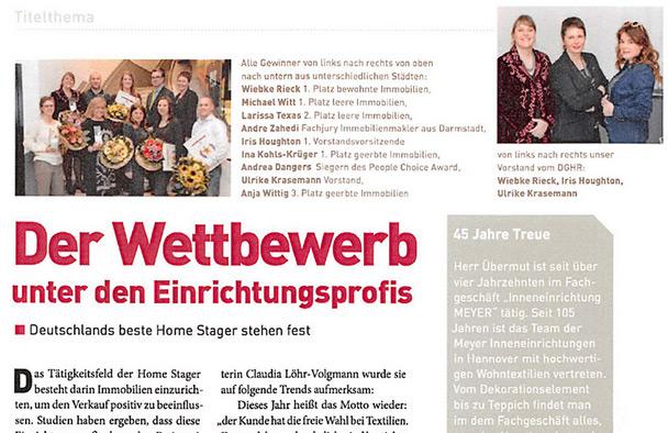 Anschnitt eines Artikels über Stilvertrauen im Kleeblatt Magazin Ausgabe 04 / 2014