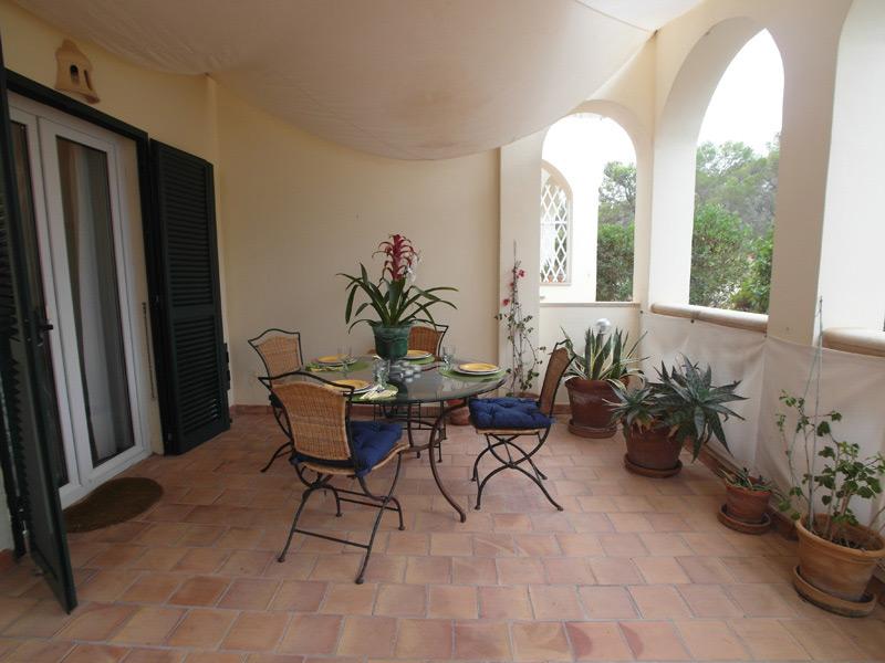 Mediterraner Balkon mit vielen Grünpflanzen