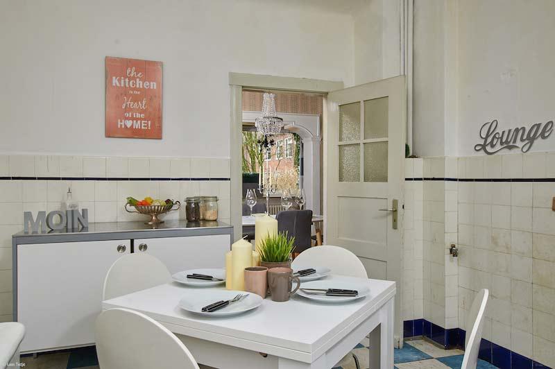 Altmodisch Küche restauriert in einem trendy Grunge-Look